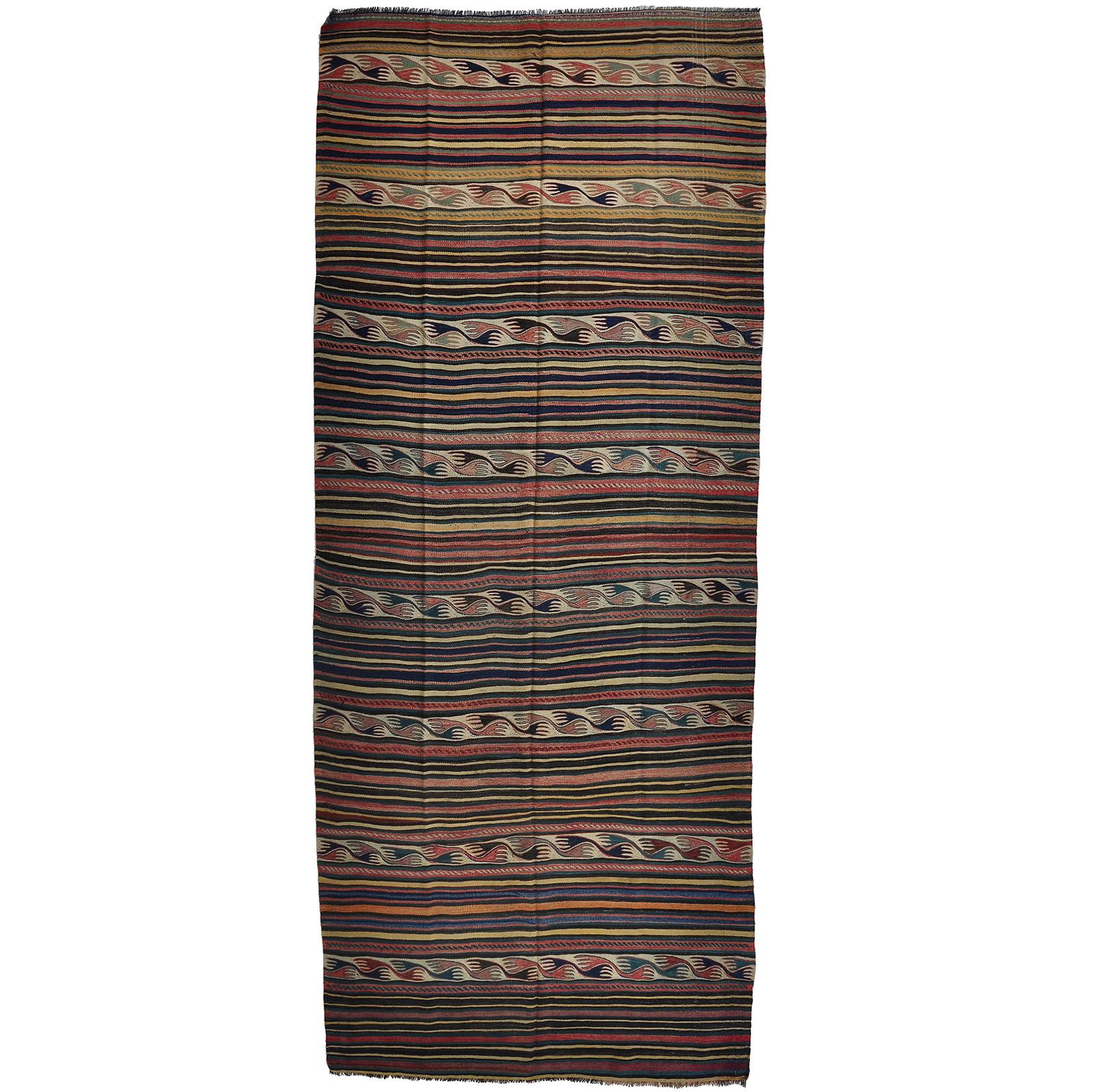 Kelim (old) matta storlek 384x160 cm