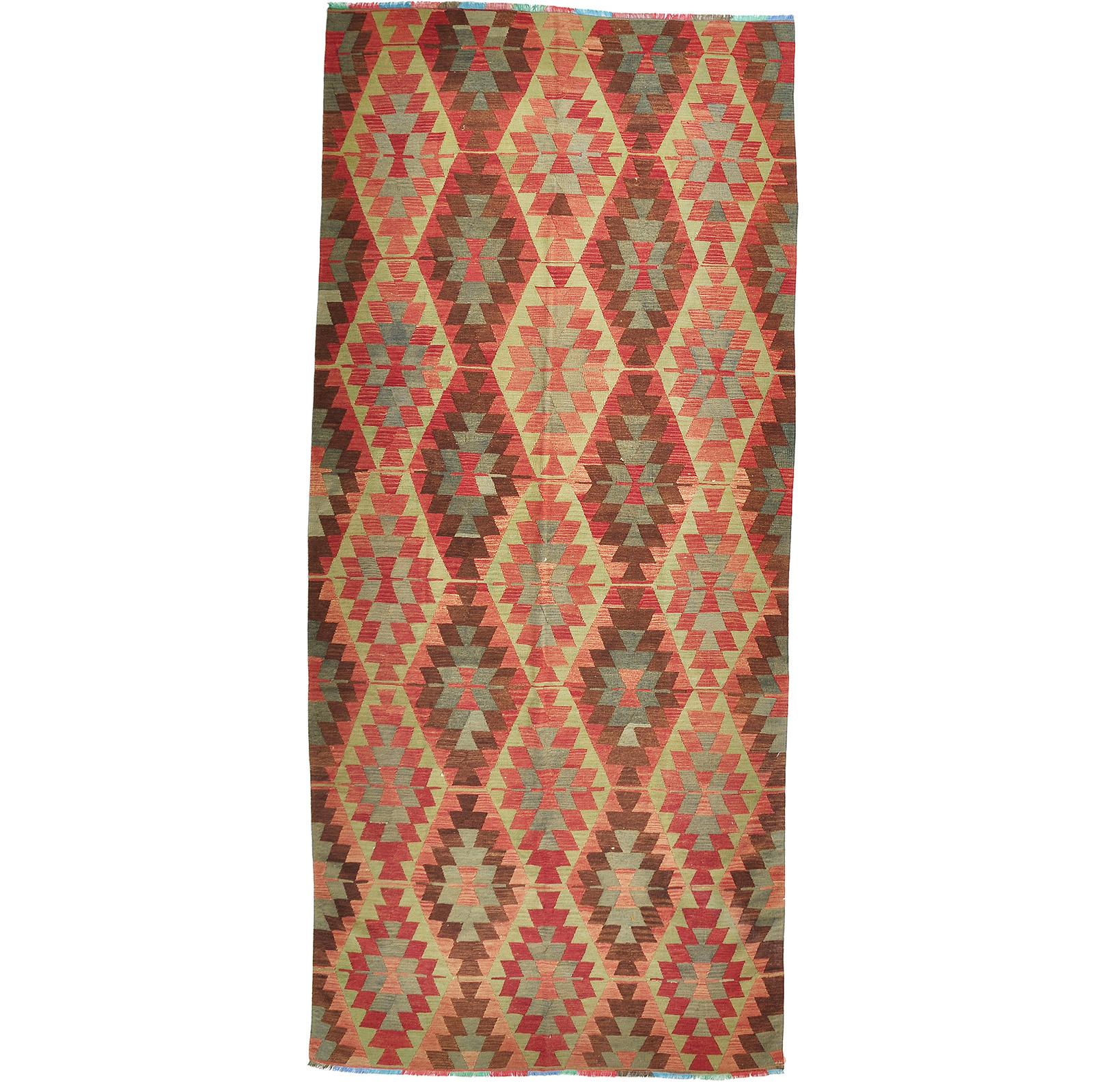 Kelim (old) matta storlek 386x174 cm