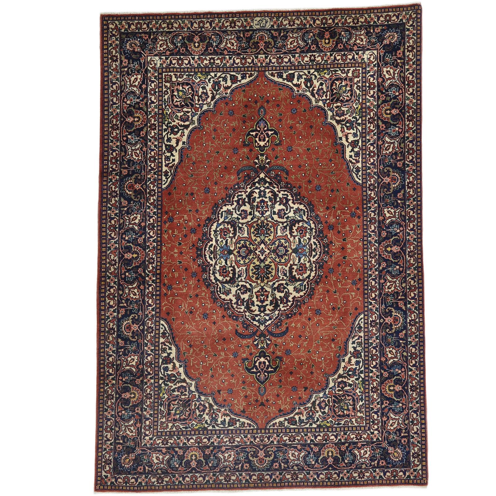 Täbriz (Semi Antik 40 Raj) matta storlek 198x138 cm