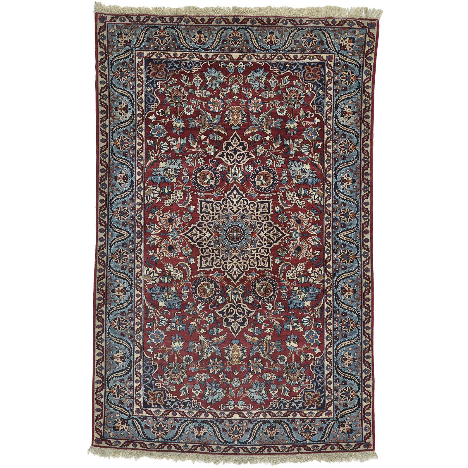Nain Toudeshk 6LA (Semi Antik) matta storlek 150x101 cm