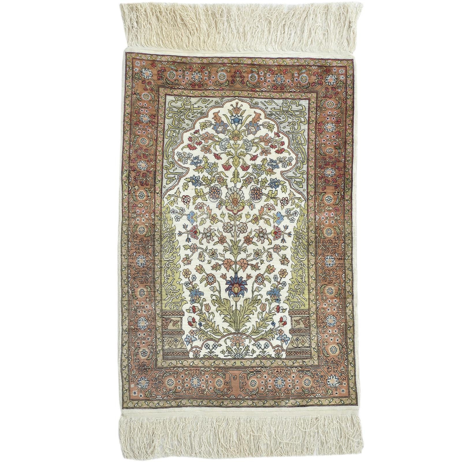 Hereke silke (Semi Antik) matta storlek 72x47 cm