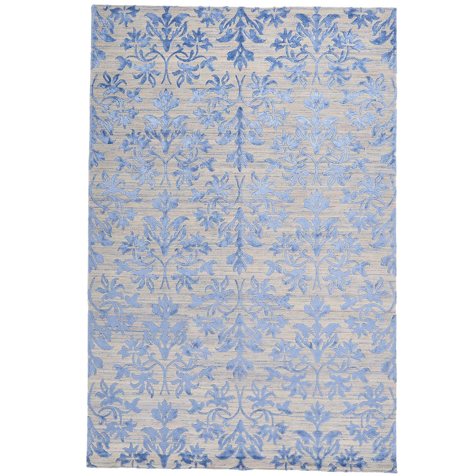 Damask (lilja blå) matta storlek 300x200 cm