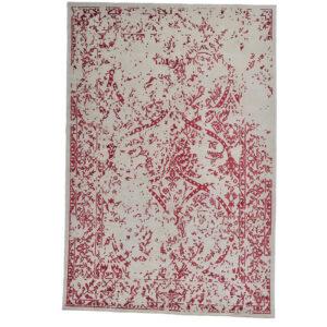 Damask (Stenros röd) matta storlek 300x200 cm