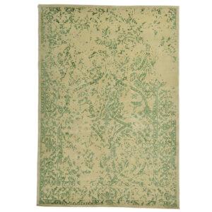 Damask (Stenros grön) matta storlek 240x170 cm