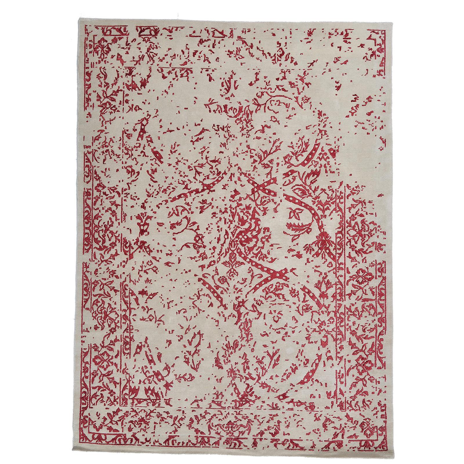 Damask (Stenros röd) matta storlek 240x170 cm