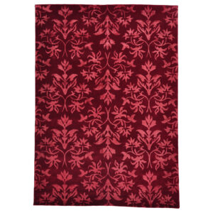 Damask (orkidé röd) matta storlek 240x170 cm