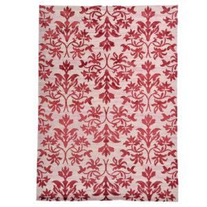 Damask (Lilja röd) matta storlek 240x170 cm
