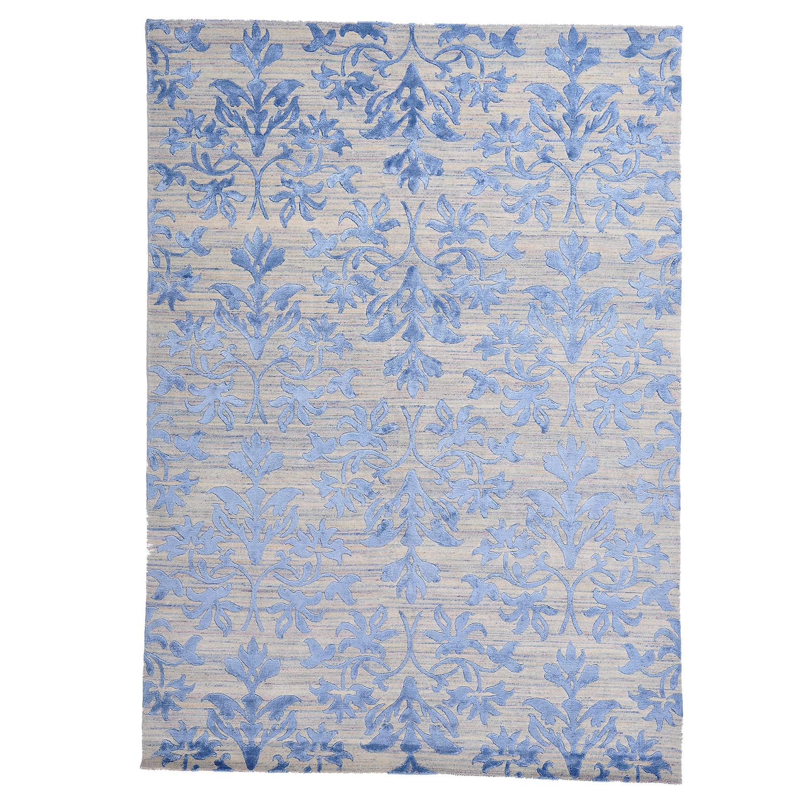 Damask (lilja blå) matta storlek 240x170 cm