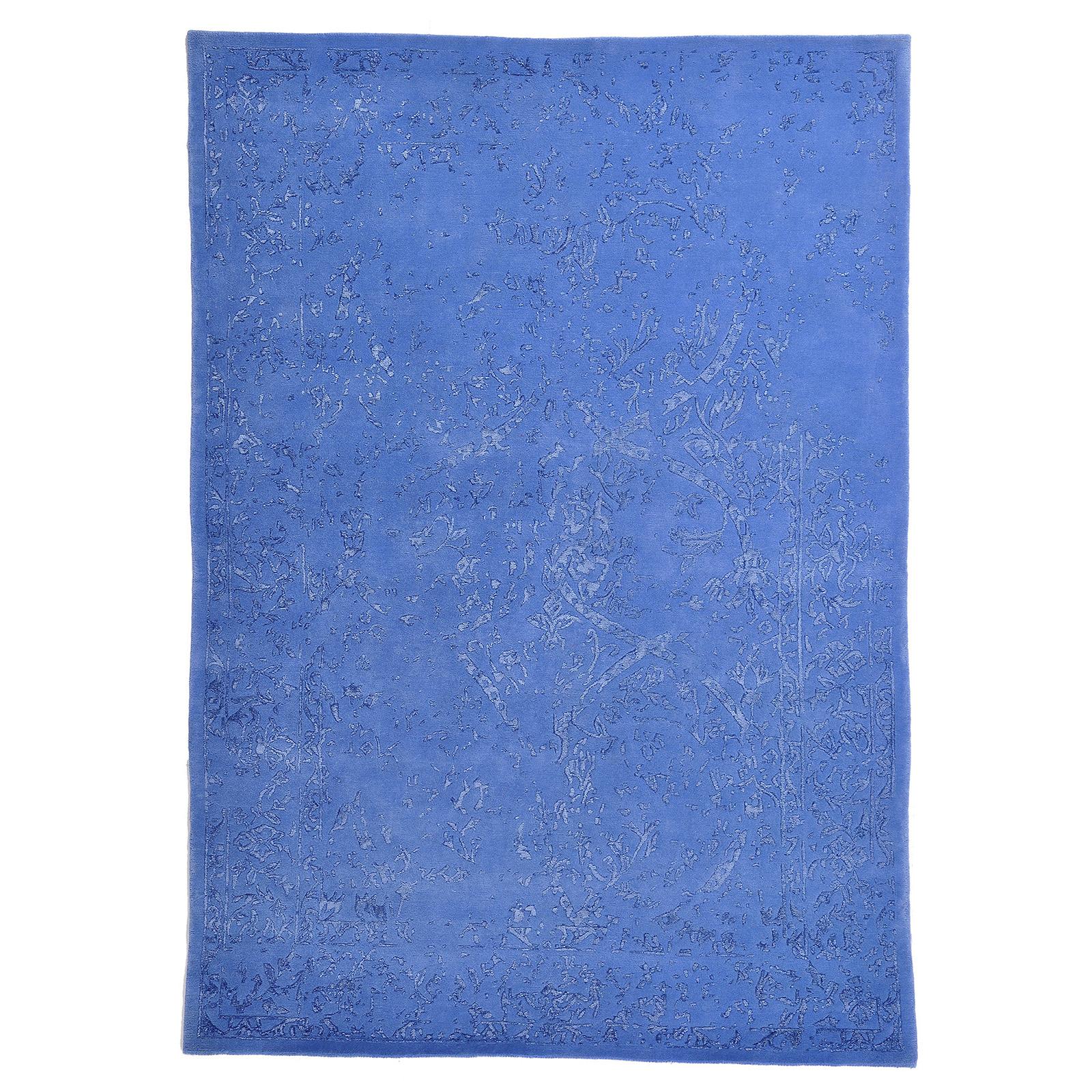 Damask (Stenros blå) matta storlek 240x170 cm