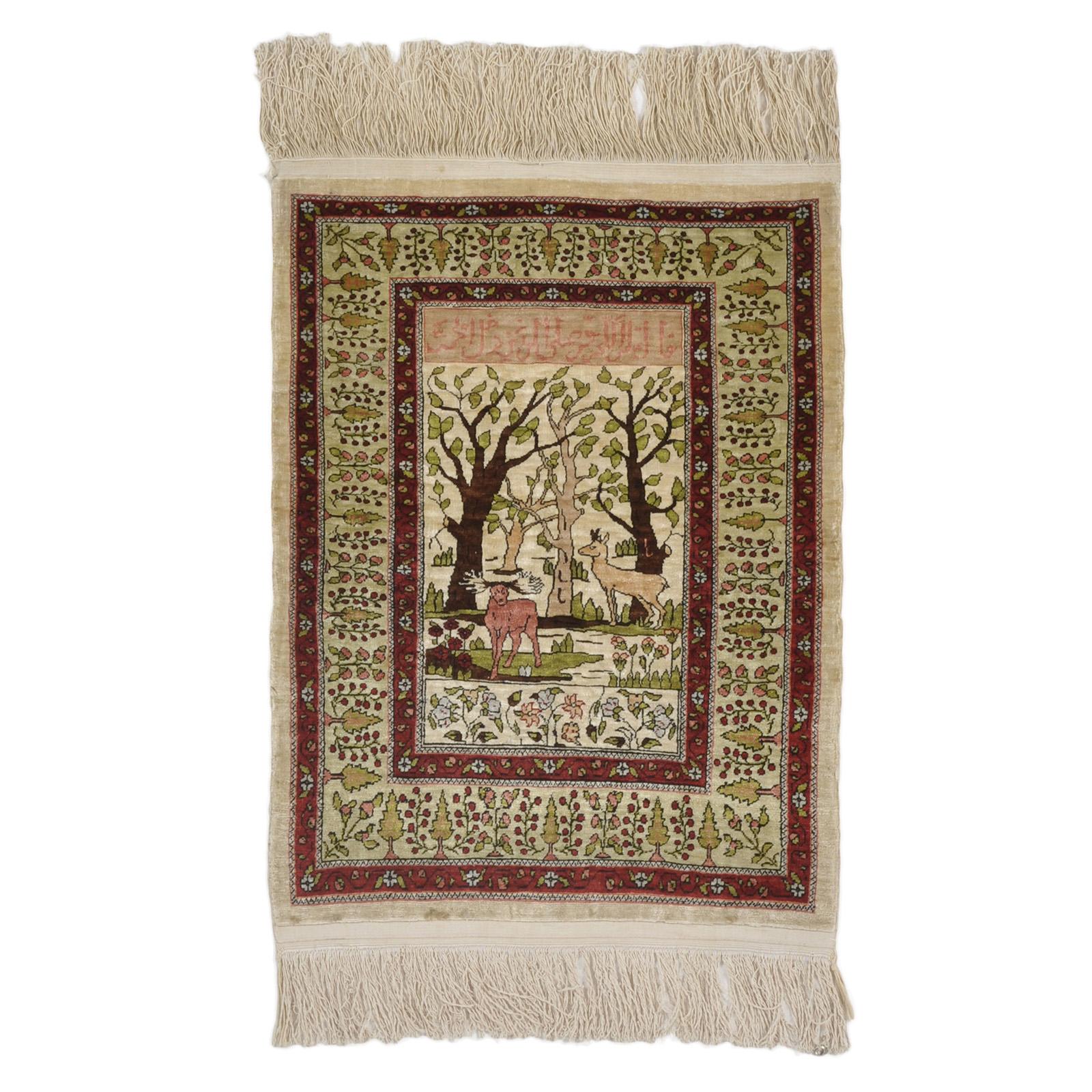 Hereke silke (Semi Antik) matta storlek 62x44 cm