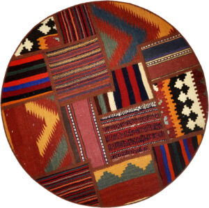 Kelim patchwork matta storlek 100x100 cm