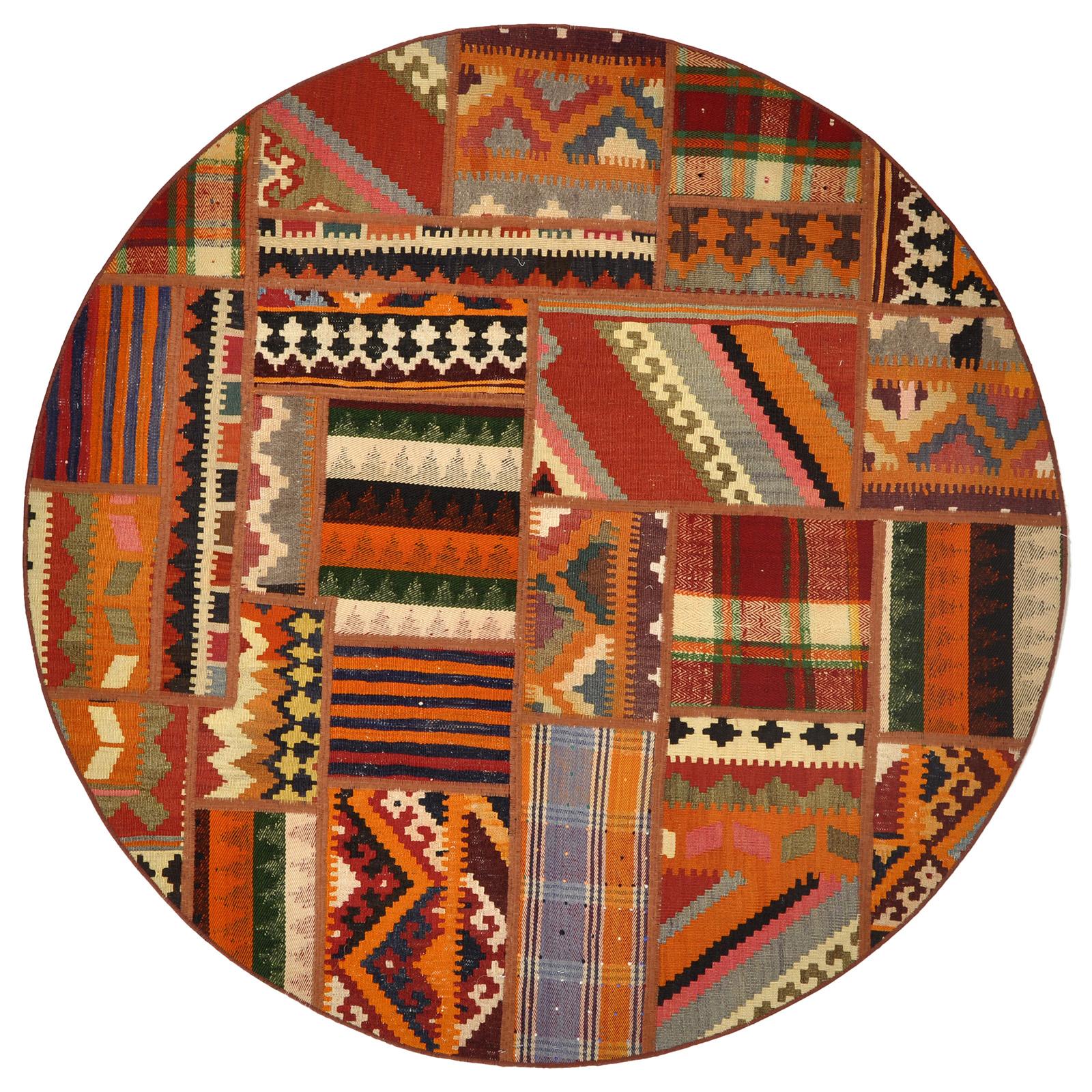 Patchwork Kelim matta storlek 150x150 cm