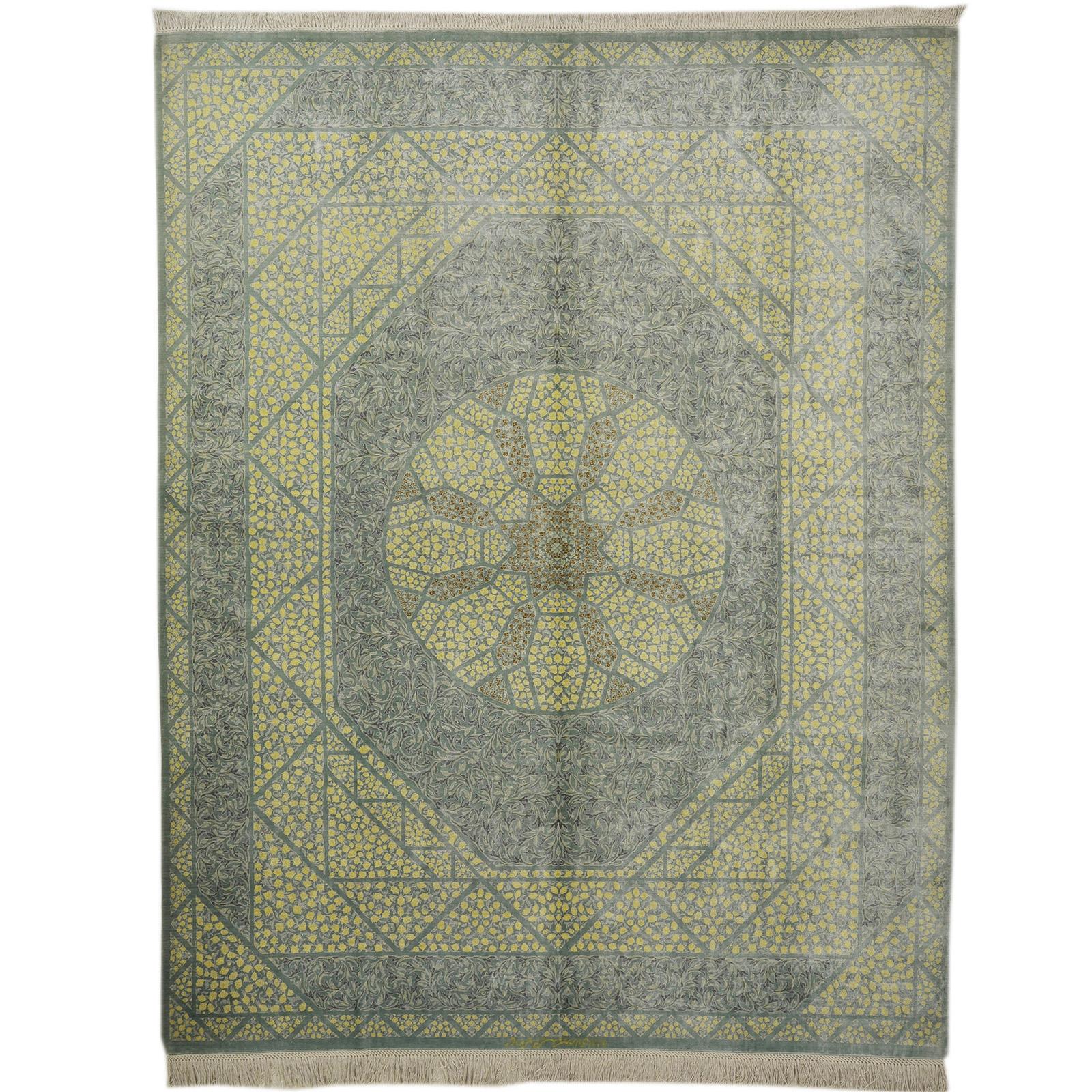 Ghom silke matta storlek 255x200 cm